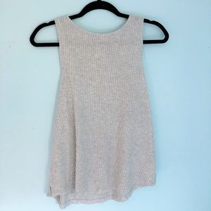 Heather Gray High Neck Tank Top